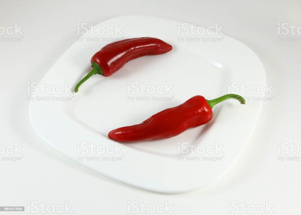 Top view chili pepper isolated on a white background royalty-free stock photo