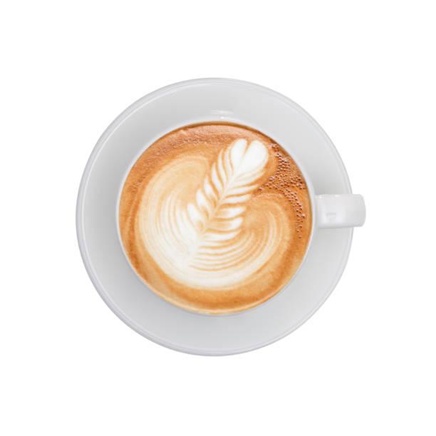 ansicht von oben - tasse kaffee - cappuccino stock-fotos und bilder