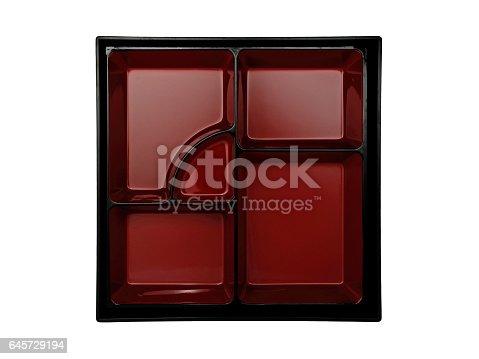 istock top view empty japanese bento box on white background 645729194