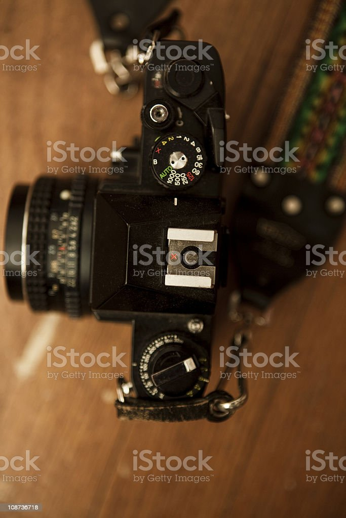 Top view film camera royalty-free stock photo