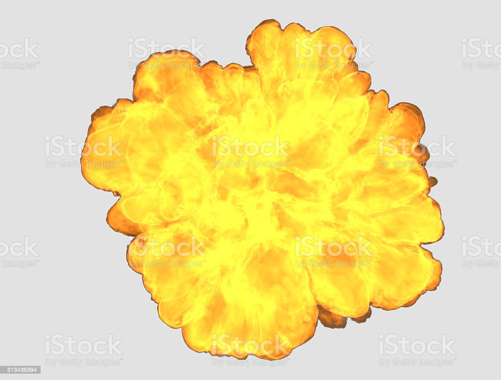 Top view fire explosion with clipping path stock photo
