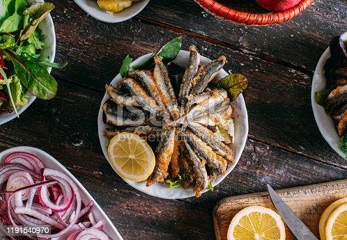 Fried Anchovy Turkish Hamsi Tava