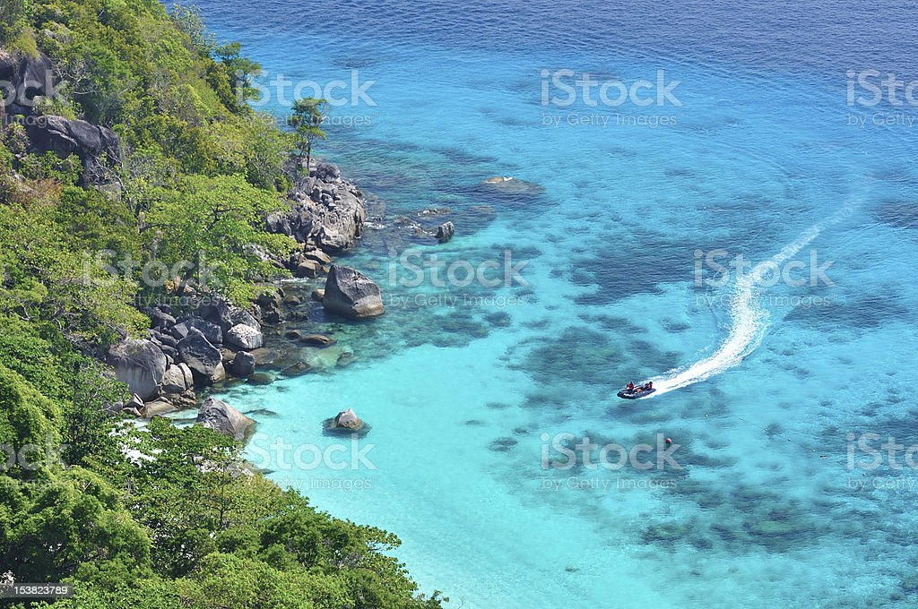Top view from Koh si stock photo