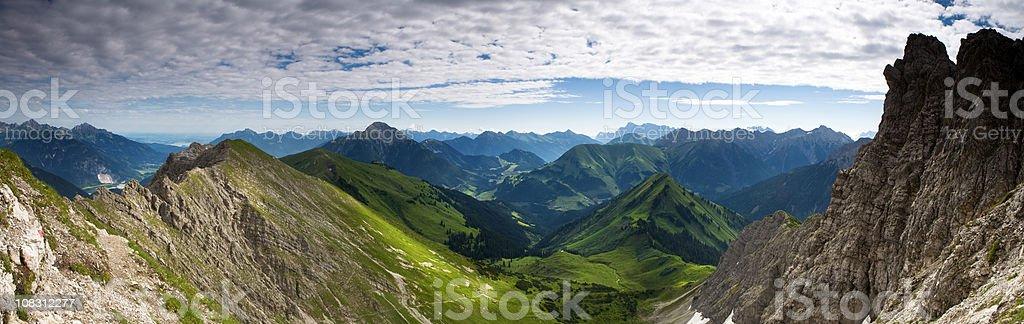 top view from mt. knittelkarspitz in tirol austria stock photo