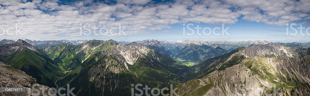 top view from mt. knittelkarspitz royalty-free stock photo