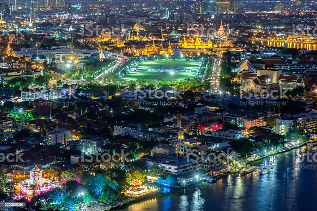 Top view grand palace and building landmark foto de stock royalty-free