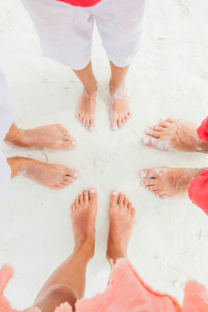 Top view image of feet stock photo