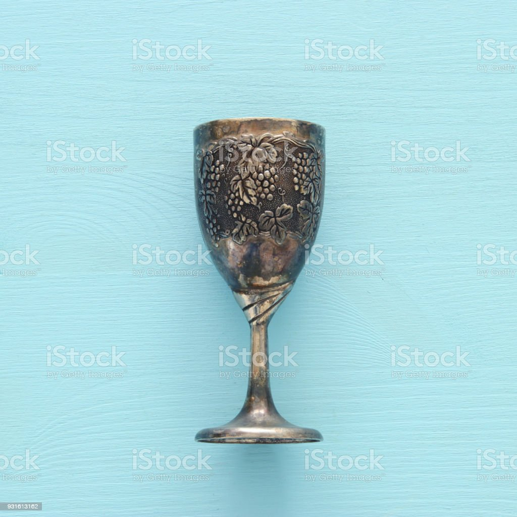 Top view image of jewish wine cup for wine passover holiday and top view image of jewish wine cup for wine passover holiday and shabbat concept biocorpaavc Gallery