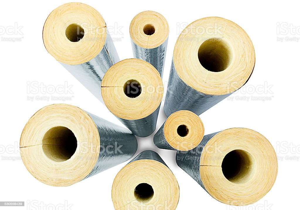 Top view insulator pipes the image isolated on white stock photo