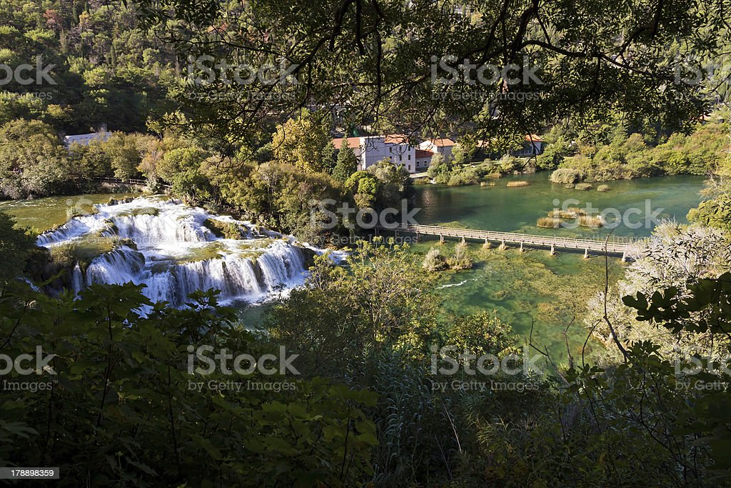 Top view Krka royalty-free stock photo