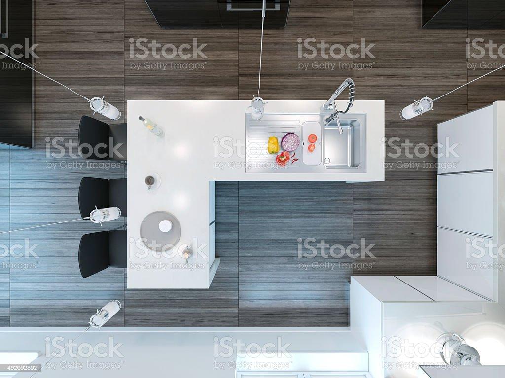 Top Aussicht Moderne Küchebar - Stockfoto   iStock