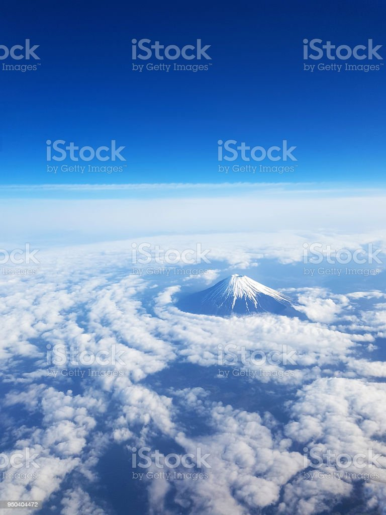 Super Top View Mt Fuji From Sky View On Window Seat Of Plane Blue Beatyapartments Chair Design Images Beatyapartmentscom
