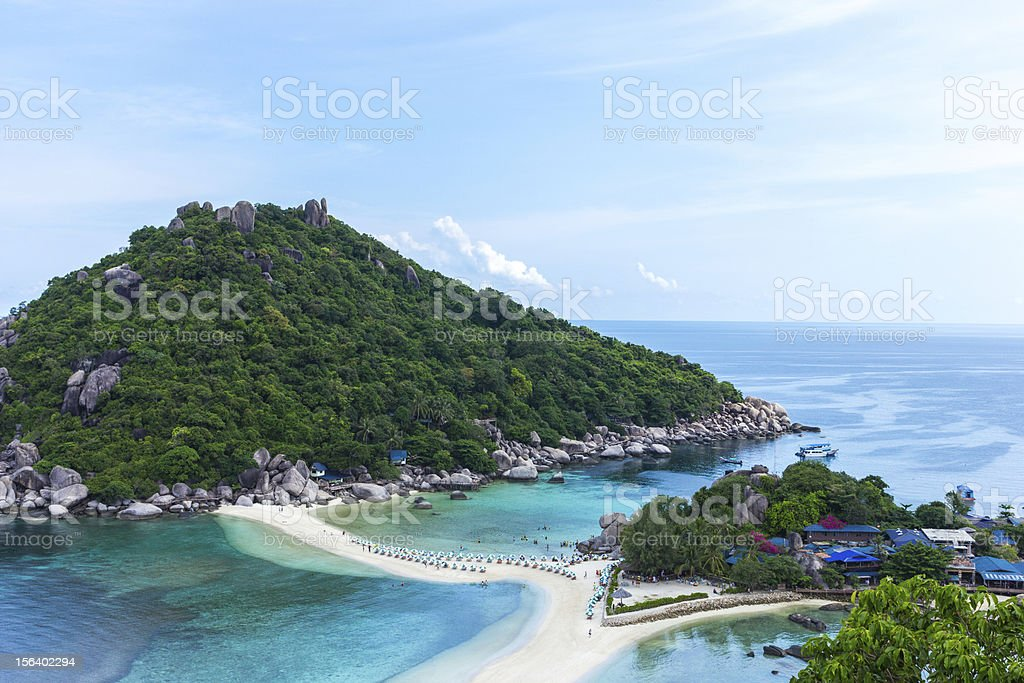 Top view Nangyuan Island in Thailand royalty-free stock photo
