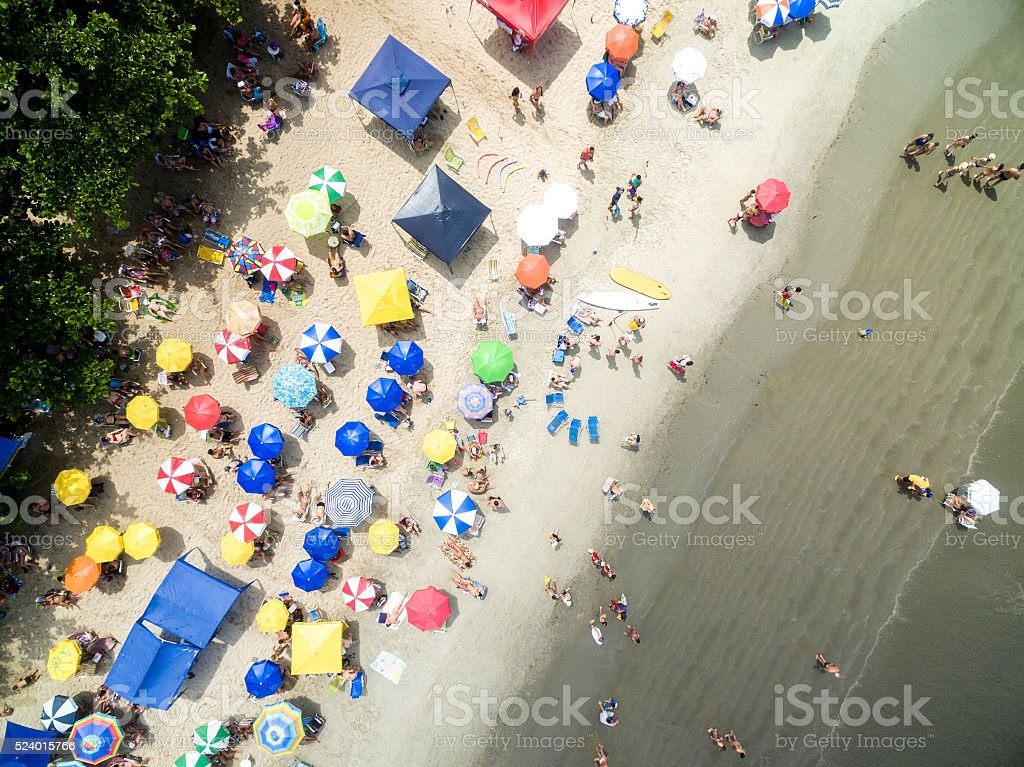 Top View of a Beach in Brazil stock photo