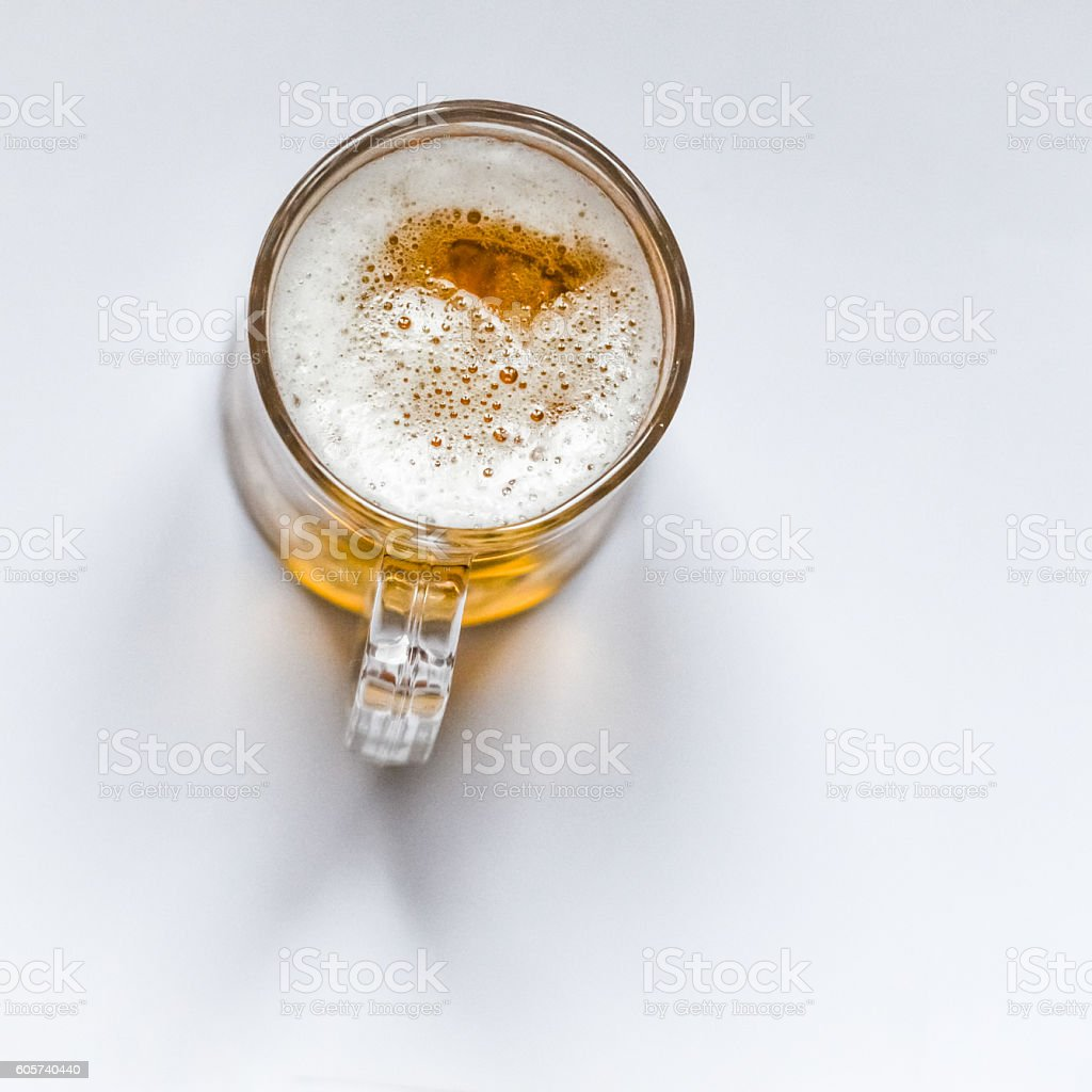 top view of a glass of beer – Foto