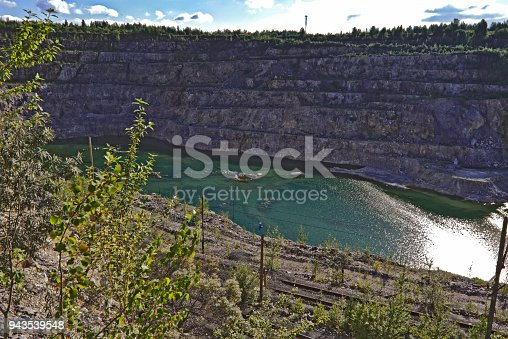 istock Top view of a large quarry dolomite 943539548