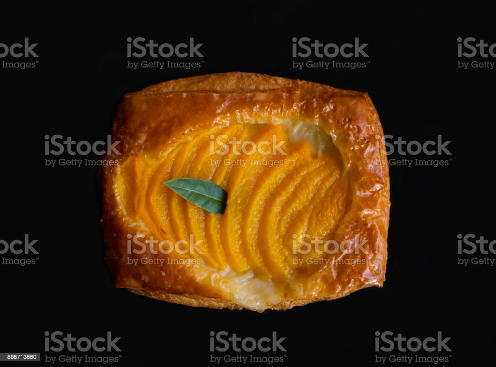 Top view of a lemon pastry stock photo