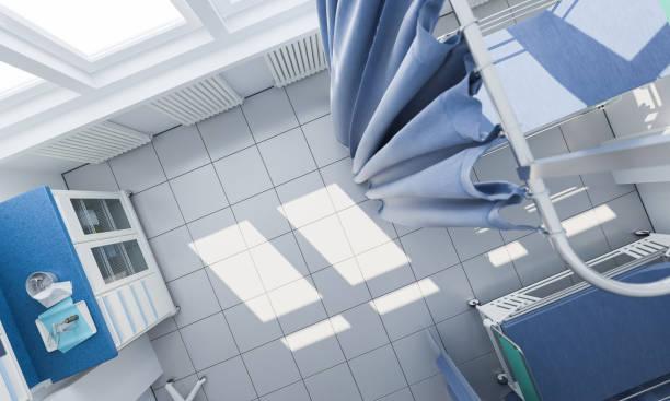 Draufsicht auf ein Arztzimmer – Foto