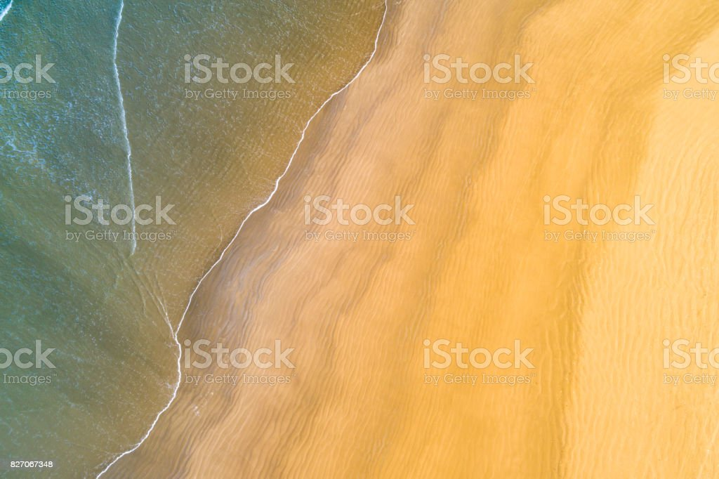 Top View of a Paradise Beach stock photo