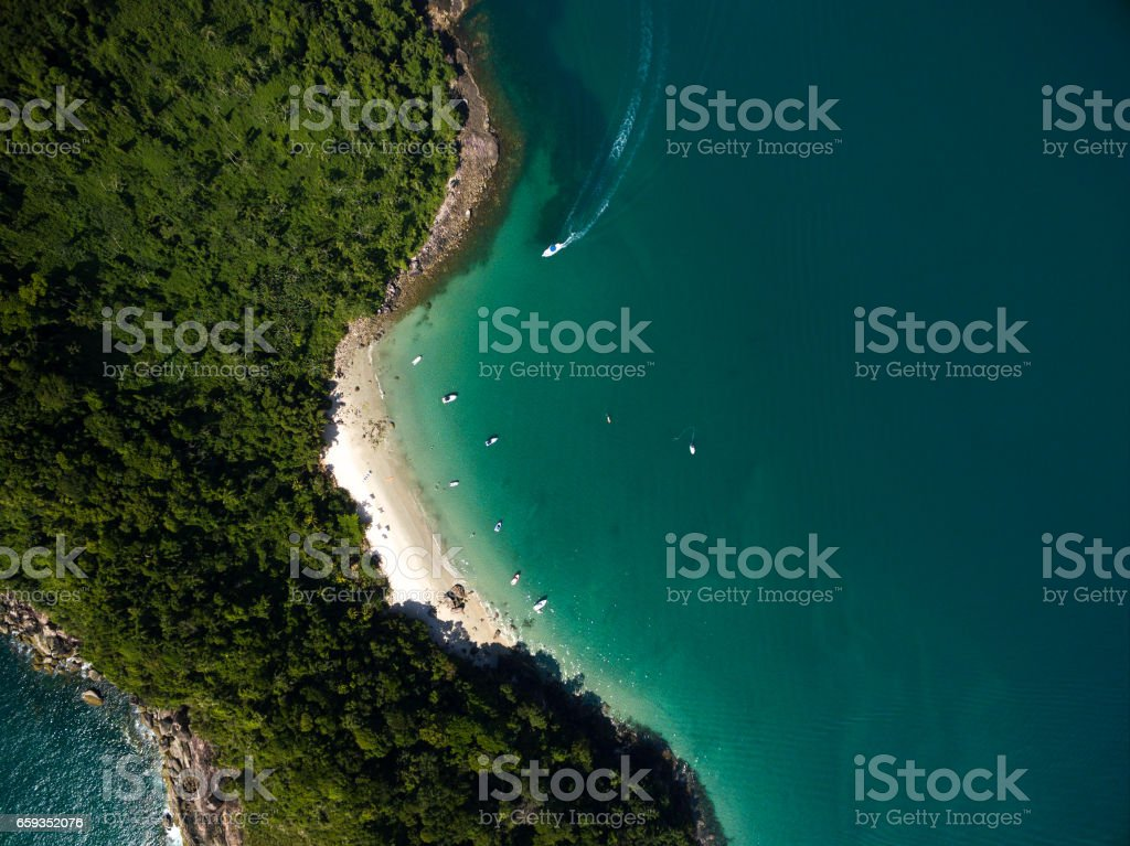 Top View of a Paradise Island stock photo