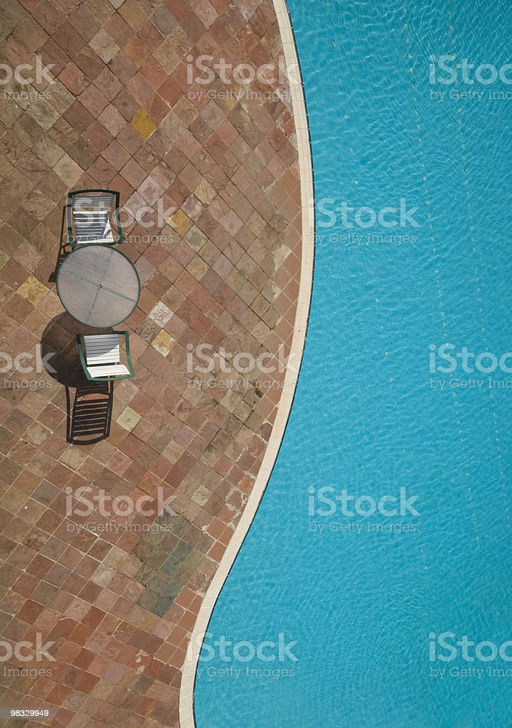 Top view of a swimming pool royalty-free stock photo