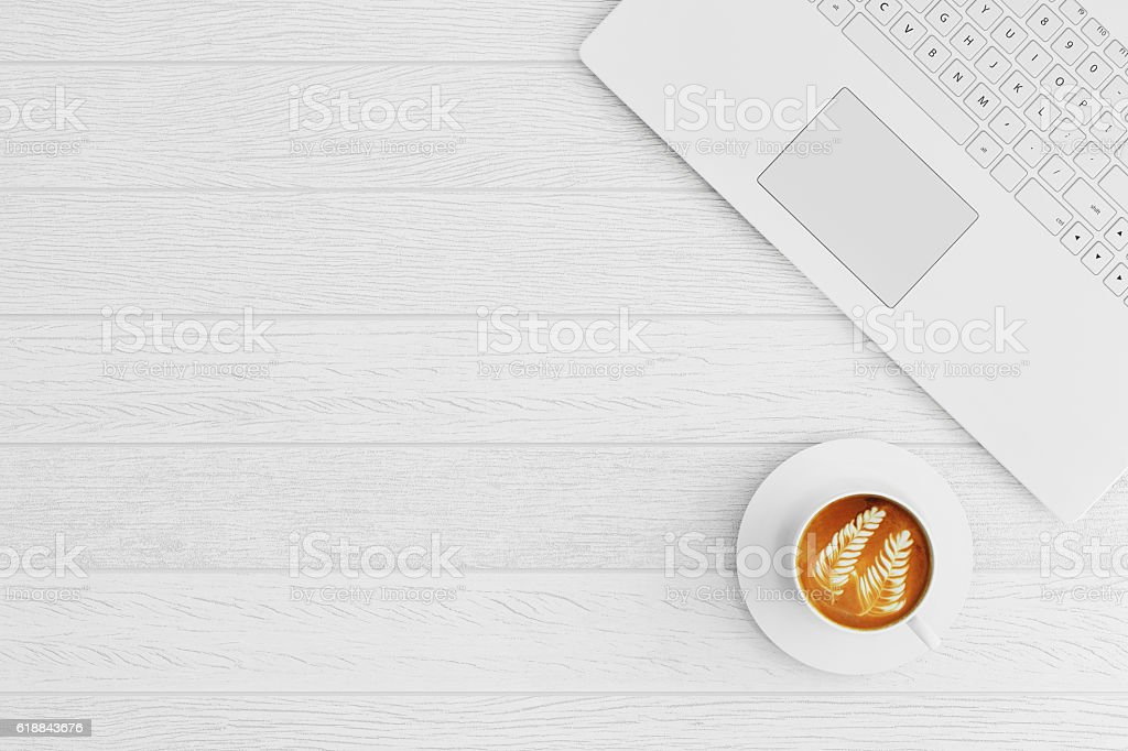 Top view of a table stock photo