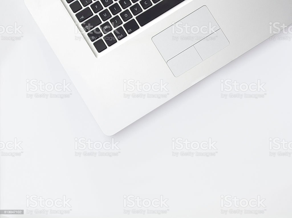 Top View of Abstract Laptop stock photo
