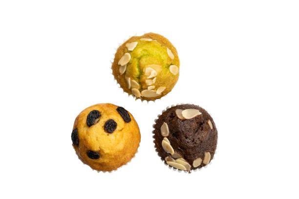 Top-Ansicht von verschiedenen Muffins – Foto