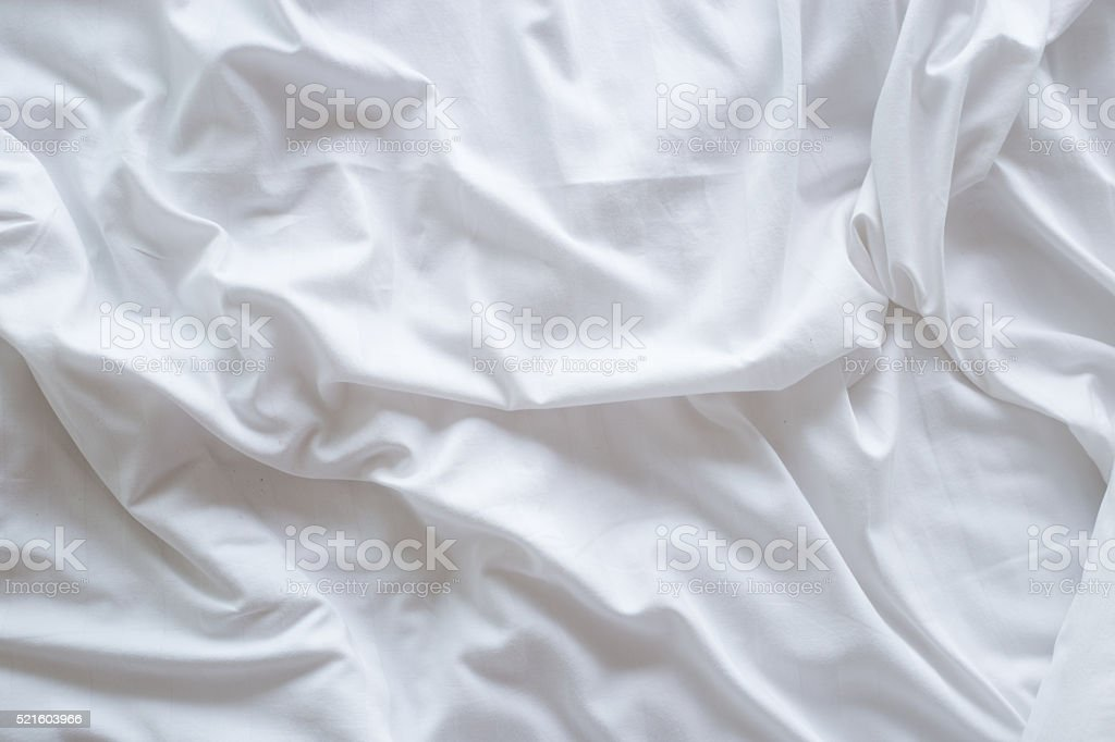 Top view of bedding sheets stock photo