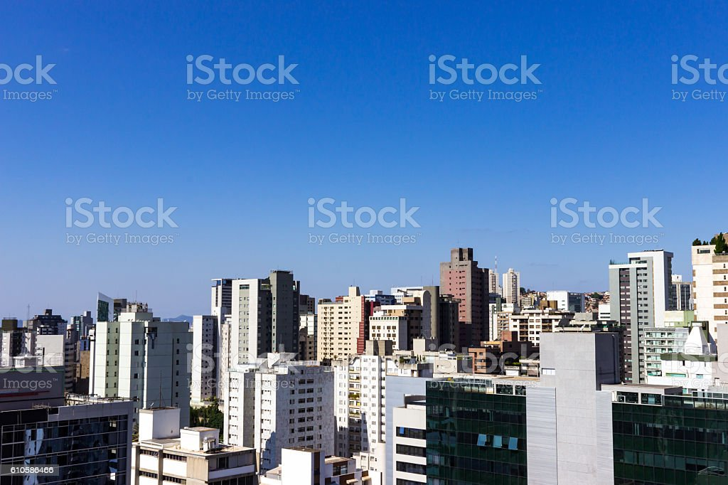 Top view of Belo Horizonte stock photo
