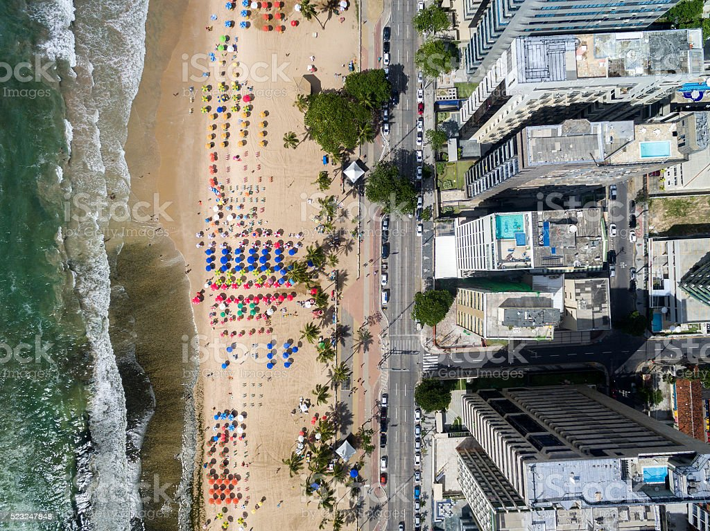 Top View of Boa Viagem Beach, Recife, Pernambuco, Brazil stock photo