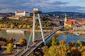 istock Top view of Bratislava, capital of Slovakia 890803010