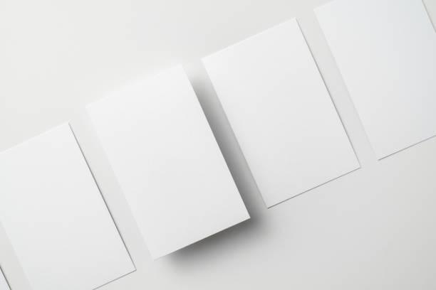 Oberansicht der Visitenkarte isoliert auf Weiß – Foto