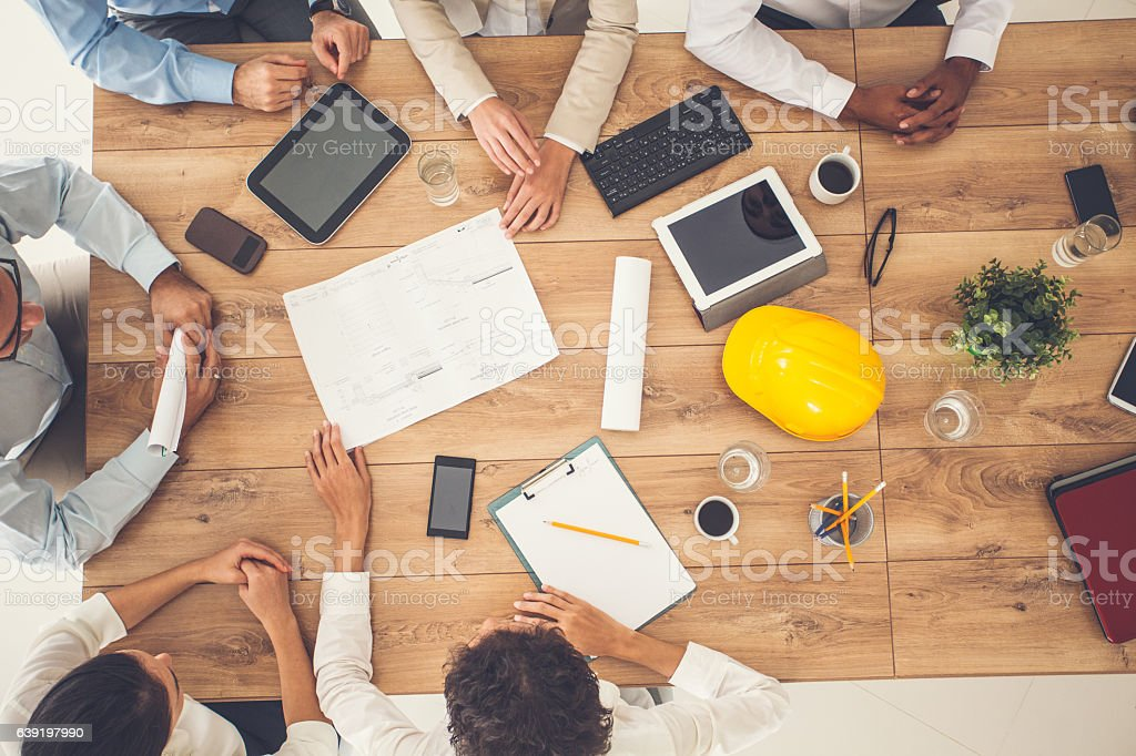 Top view of business people on a meeting - Photo