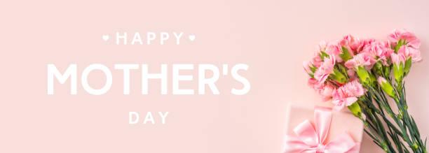 Blick auf die Nelke auf rosa für den Muttertag – Foto