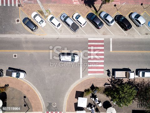 istock Top View of Cars in a Street 657519964