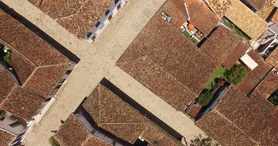 Top View of Colonial Houses, Paraty, Rio de Janeiro