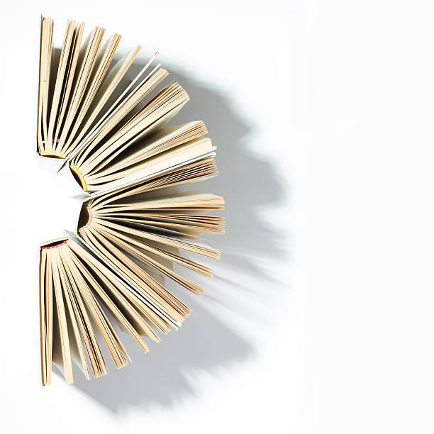 Vista superior de coloridos y de tapa dura libros en un círculo. - foto de stock