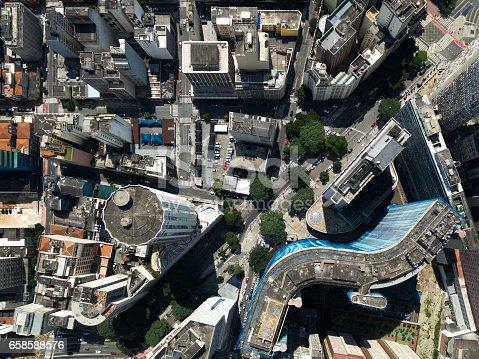 istock Top View of COPAM Building in Sao Paulo, Brazil 658588576