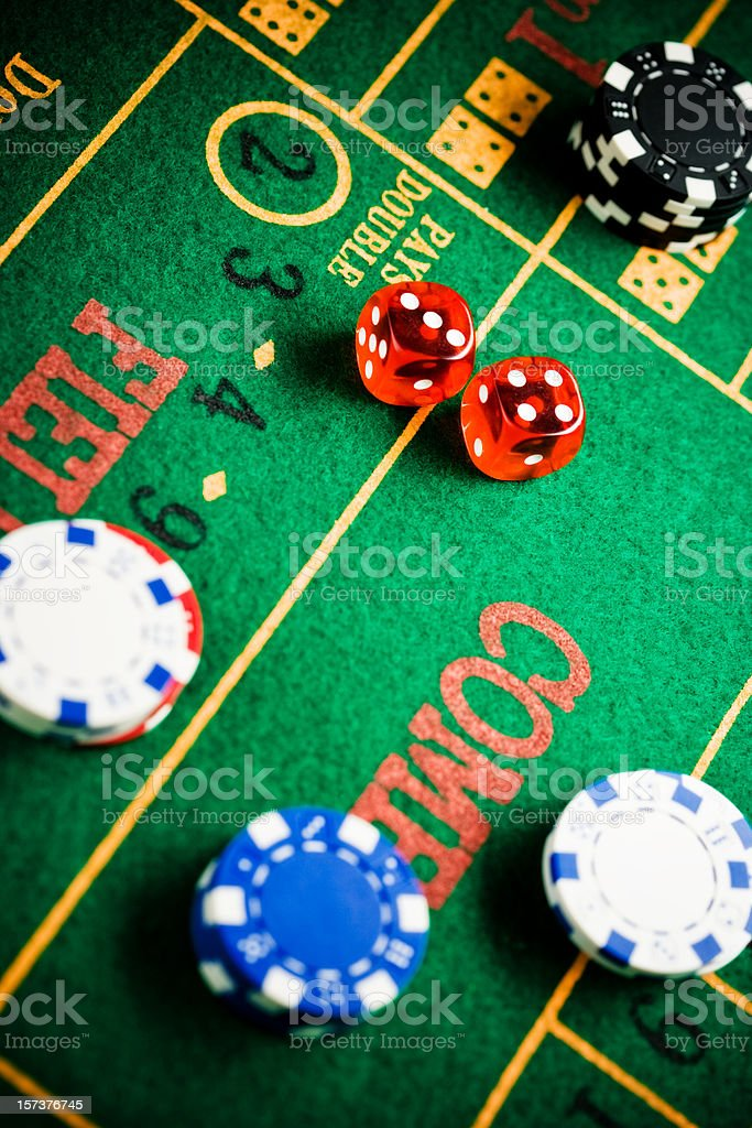 top view of craps table royalty-free stock photo