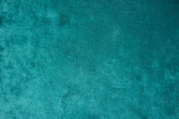 top view of dark green velour fabric - teal backgrounds stock photos and pictures
