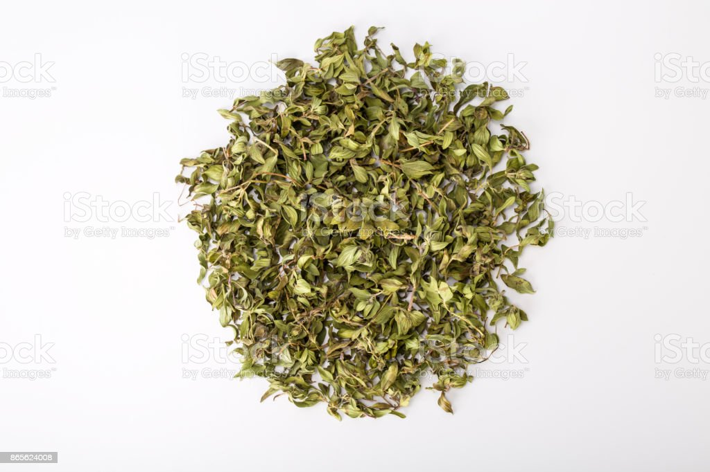 Top View Of Dried Persian Ziziphora Known As Kakouty In Iran Mountain Plants With Aromatic Smell Mint Or Thyme Used For Herbal Tea Garnishing