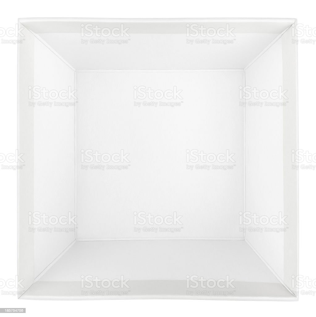 Top view of empty square box stock photo
