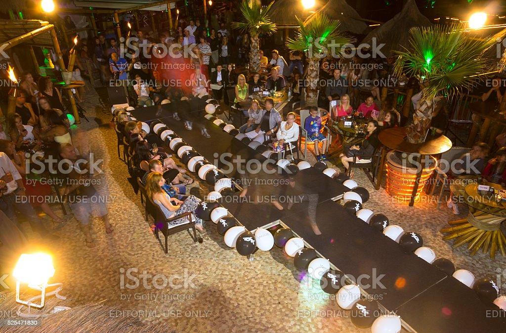 Top view of Fashion Show in portoroz, SloveniaTraining camp stock photo