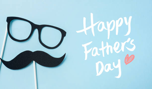 top view of fathers day concept with copy space - fathers day stock pictures, royalty-free photos & images