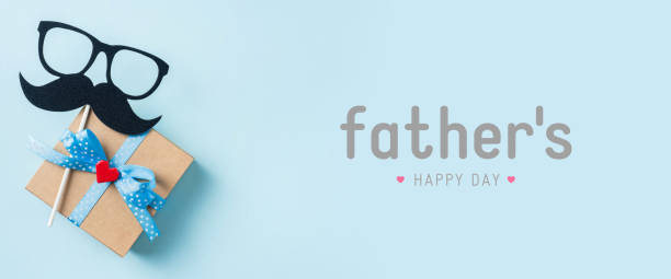 top view of fathers day concept with copy space stock photo