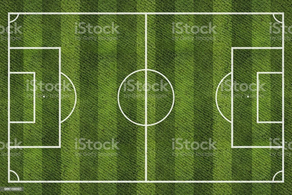 Top view of football field. - Royalty-free Bola de Futebol Foto de stock
