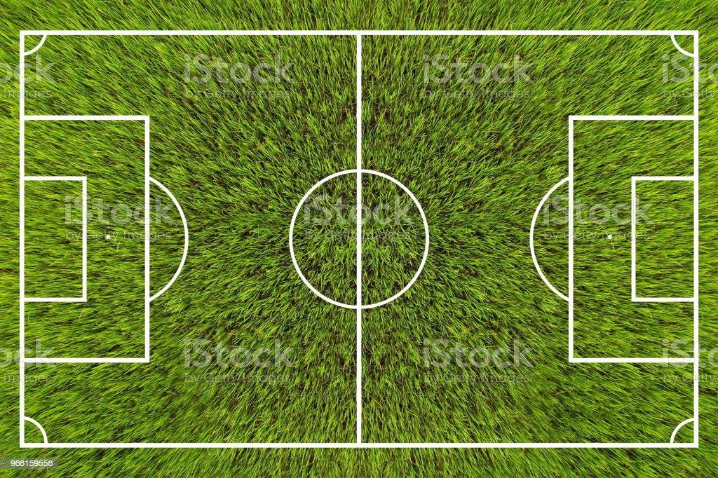 Ovanifrån på fotbollsplan. - Royaltyfri Fotboll - Boll Bildbanksbilder