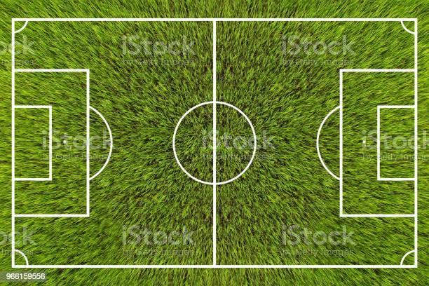 Ovanifrån På Fotbollsplan-foton och fler bilder på Fotboll - Boll