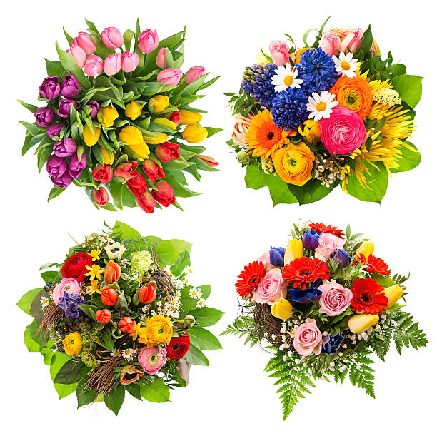 Top view of four colorful flower bouquets picture id465240719?b=1&k=6&m=465240719&s=612x612&w=0&h=rs0 qlhmb5dcry xainuyg5zrdh5qyzkoyjk o76cne=
